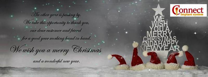 Christmas Connect.Happy New Year 2017 And Merry Christmas Connect Implants